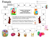 French Easter Numbers and Math Listening Activity