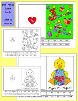 French Easter Activities, Puzzles and Cards - Paques