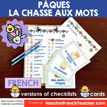 French Easter Pâques Activities: Pâques Scavenger Hunt Game