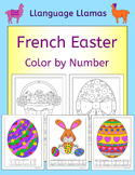 French Easter - Paques - Color by Number