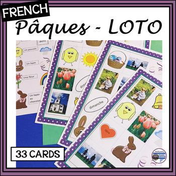(French) Easter – Pâques – Loto (Bingo) Game