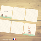 French Easter Prepositions Memory Game⎜Matching Game⎜French Prepositions