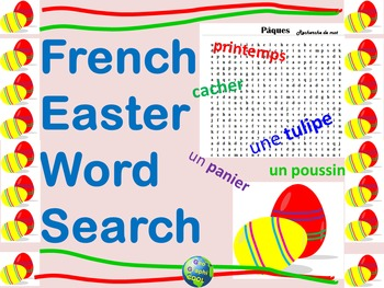 French Easter Vocabulary Word Search
