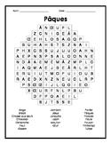 French Easter Word Search - Mots cachés français sur Pâques
