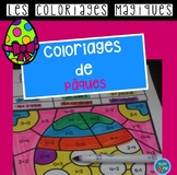 French Easter color by code / Coloriages magiques {Pâques}
