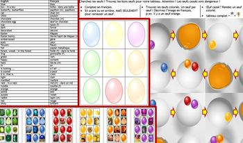 French Pâques Easter egg hunt - board game