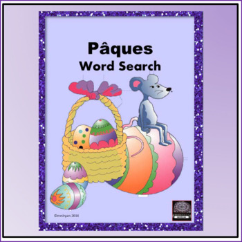 French - Easter/Pâques - word search