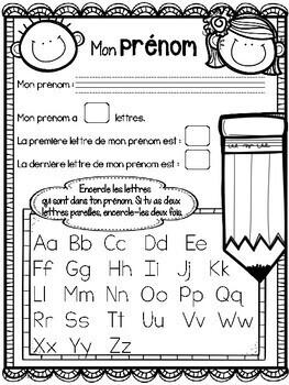 French Easy Back to School Activities/ Activités pour la rentrée scolaire