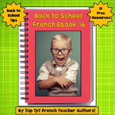 French Ebook, Back to School Free Resources and Tips