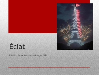 French - Eclat - Outburst - Level IIIB Review