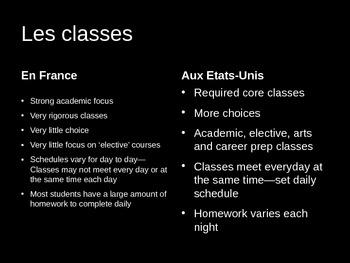 French--Ecole Francaise vs Ecole Americaine