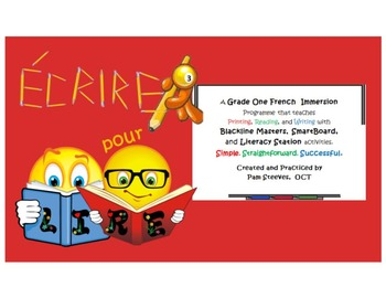 French Écrire pour lire 3: Phonics Activities