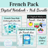 Digital Interactive Notebook Template for French Class | B