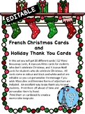 French Editable Holiday thank you notes and Christmas Cards Ontario Core French