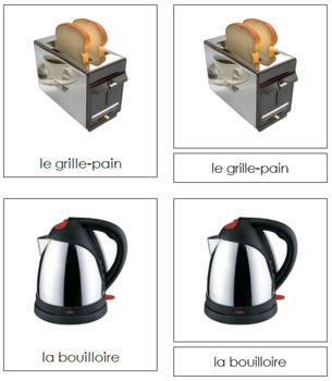 French - Electrical Appliance Cards