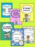 French Elementary (Bundled)- Bonjour, Je suis français, La classe, La famille...