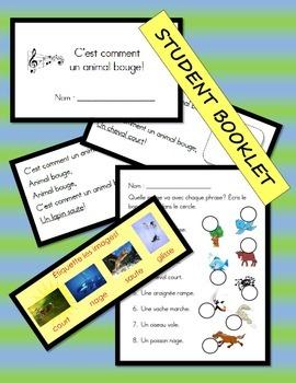 French Emergency Supply Teacher Kit 7: C'est comment un animal bouge!