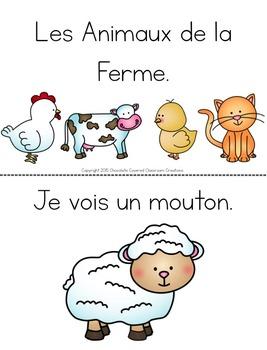 French Emergent Reader - Je vois les animaux de la ferme.