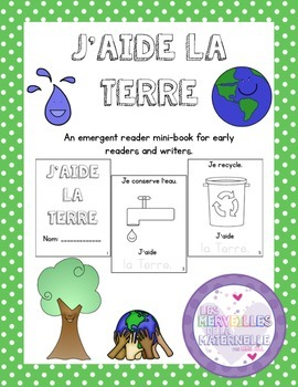 Journée de la Terre - French Emergent Reader