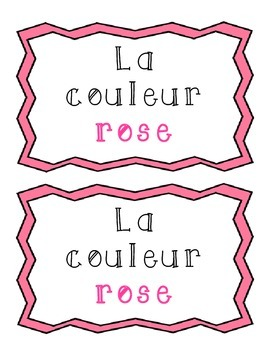 La couleur rose - French Emergent Reader