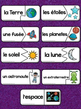 French Emergent Reader and Activities: Dans l'espace A Space Journey