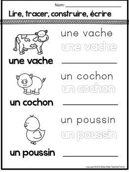 French Emergent Reader and Activities: A la ferme