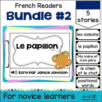 French Emergent Readers {Bundled Set 2} Dual language, immersion, FLES