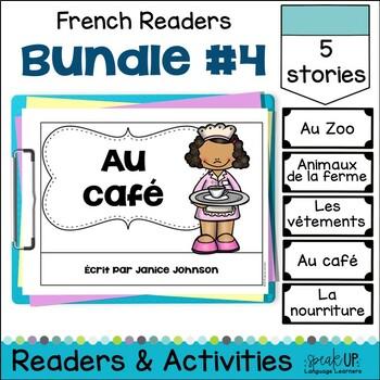French Emergent Readers {Bundled Set 4} Dual language, imm