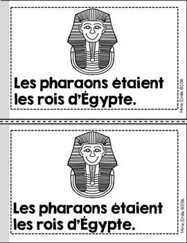 French Emergent reader Egypt mini-books/Petits livres {