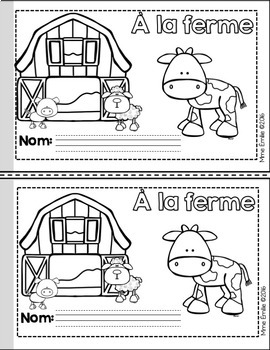 French Emergent reader Farm Animals mini-books/Petits livres {Animaux ferme}