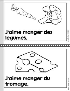 French Emergent reader Food mini-books/Petits livres {Alimentation}
