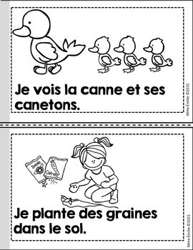 French Emergent reader Spring mini-books/Petits livres {Printemps}