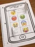 French Interactive Notebook : Comment ça va? Emoji Emotions