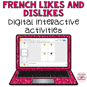 French Emoji Likes and Dislikes Digital Activity for Google Slides