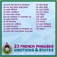 French Emotions & States • 3 Reading & Writing Booklets • Abstract Theme