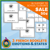 French Emotions & States • 3 Reading & Writing Booklets •