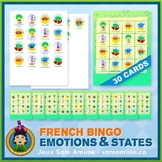 French Emotions & States Bingo Game • Abstract Theme