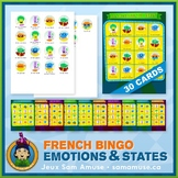 French Emotions & States • Bingo Game • Circus Theme