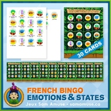 French Emotions & States • Bingo Game • Jungle Theme