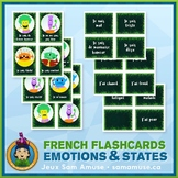 French Emotions & States Flash Cards • 3 styles included •