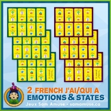 French Emotions & States J'ai/Qui a Games • 2 decks of car