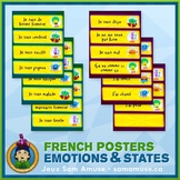 French Emotions & States Word Wall • Horizontal 1/4 Page P