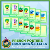 French Emotions & States Word Wall • Vertical 1/2 Page Pos