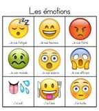 Emoji-Themed French Emotions Visual Dictionary/Game Board