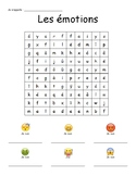 Emoij-Themed French Emotions Word Search - Mots meles, emotions