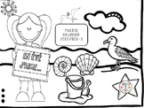 French: En Été Coloring Pages