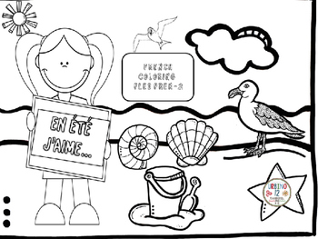 French: En Été Coloring Pages by Urbino12 | Teachers Pay ...