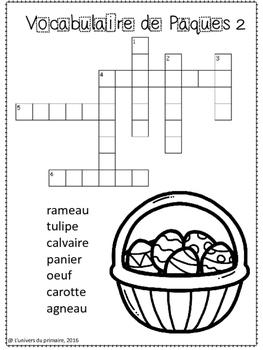 French - En français Cahier d'activités - Pâques