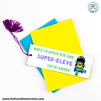 French End of School Year Bookmarks