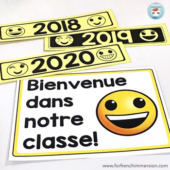 French EMOJI Classroom Decor Bundle